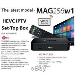 MAG 256 w1 Original Infomir IPTV Set Top Box 150 Mbps Wi-Fi Built in