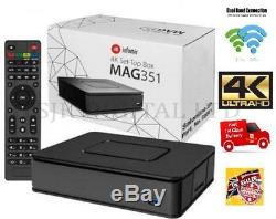 MAG 351Infomir 4K/Hevc IPTV/OTT Set-Top Box 2GB Ram Dual Wifi 2.4ghz/5ghz
