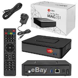 MAG 351 Set Top Box IPTV Linux 4K UHD Builtin Wifi Bluetooth MAG351 UK PLUG