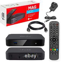 MAG 420 Original Infomir & HB-DIGITAL 4K IPTV Set TOP Box Multimedia Player TV #