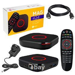 MAG 424 Original Infomir 4K IPTV Set TOP Box Multimedia Player TV UK Plug