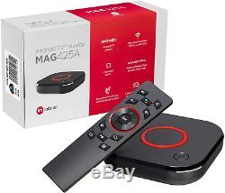 MAG 425A Infomir & HB-DIGITAL 4K IPTV Set TOP Box ANDROID TV 8.0 Multimedia TV #