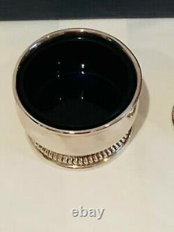 Mappin & Webb Boxed Hallmarked Silver Cruet Set & Spoons 210gms Top quality