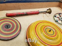 Marklin Large Spinning Tops Set with Original Box, Germany, c. 1920's