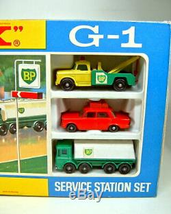 Matchbox G-1 Service Station Gift-Set 1968 top in Box mit rotem Fiat