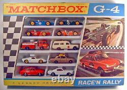 Matchbox Giftset G-4 Race'n'Rally Set 1968 top in Box, rare Varianten