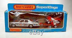 Matchbox Superking K-91 Motorcycle Racing Set top in Box mit Rennmotorrädern