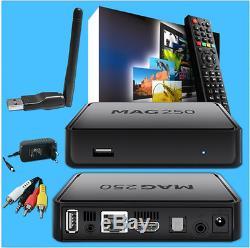 Multimedia player MAG250 IPTV SET TOP BOX Internet TV IP Konsole + Wlan Stick