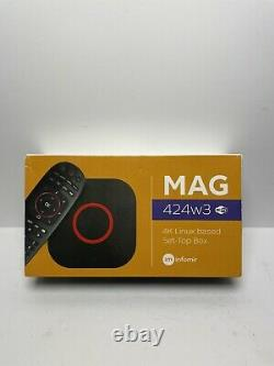 NEW! Infomir MAG424w3 UHD Set-Top Box with 4K Support BRAND NEW