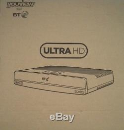 New Bt Ultra Hd Youview + Uhd 4k Dtr-t4000/1tb/bt/df Set Top Tv Freeview Box