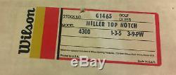 New In Box Vintage Wilson Top Notch RH Johnny Miller 4300 Golf Club Set Complete