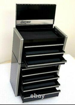 New Snap-On Black Micro Tool Box RARE TOP & BOTTOM SET MINI-REPLICA JEWELRY
