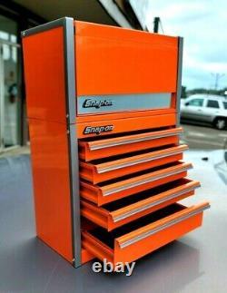 New Snap-On Electric Orange Micro Tool Box RARE TOP & BOTTOM SET MINI JEWELRY