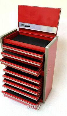 New Snap-On RED Micro Tool Box RARE TOP & BOTTOM SET MINI-REPLICA JEWELRY