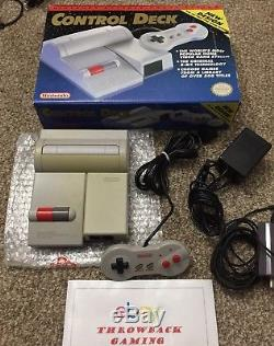 Nintendo NES Control Deck TOP LOADING Console Set Rare NES-101 Loader with Box