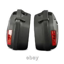 Panniers Set for Honda VFR 800 F / 750 F / R + Top Box blk SD77