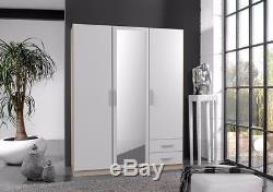 Qmax'Space' Range German Made 3/4 Door & Corner Wardrobes. Alpine White & Oak