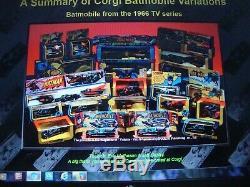 Rare One Of The Top Five Rare Corgi Batmobile Boxes! + Batboat 2 Pack Set