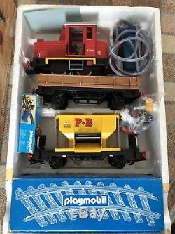 Rare Working 90s Playmobil Steam Train Set 4030 Boxed Top Condition