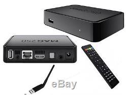 Russische, Deutsche TV ohne ABO MAG 250 IPTV SET TOP BOX Internet TV + Wlan USB