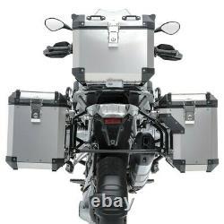 Set Alu Panniers+ Top Box+ Rack for BMW R 1200 GS Adventure 14-18 Bagtecs ADX130