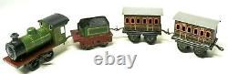 Super Rare Bing 0-gauge Table Top Uk-market Train Set With Original Box