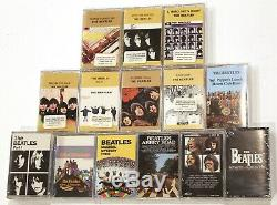 THE BEATLES COLLECTION 16 NEWithSEALED Cassettes in Wooden Roll Top Box Set lot