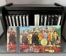 The Beatles 16 CD Wooden Roll Top Box Set Inblack And Gold. Booklet Is Included
