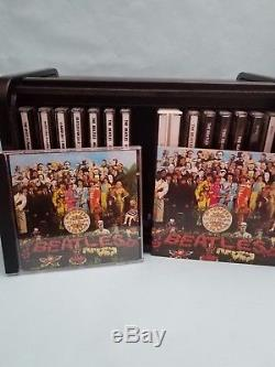 The Beatles CD 16 Set Wooden Roll Top Box Ships Free