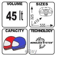 Top Box Set Givi Honda CBF 1000 06-09 Monolock E450N black