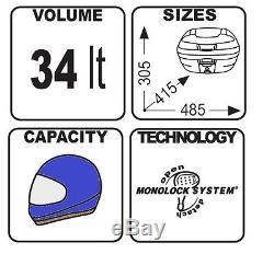 Top Box Set Givi Honda VFR 800 F 02-11 Monolock E340NT black