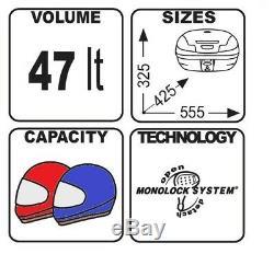 Top Box Set Givi Kawasaki Z1000SX 11-17 Monolock E470N black