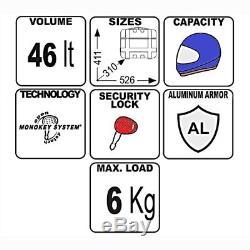 Top Box Set Givi Moto Guzzi V7 III Stone 2017 TRK46N Monokey black