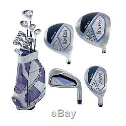 Top Flite Golf Flawless Women's Complete Box Set 16-Piece LRH Ladies Purple NEW