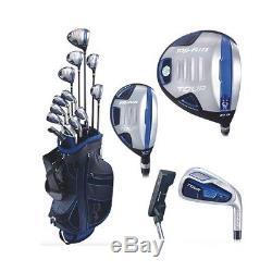 Top Flite Tour Senior Men's Golf Complete Club Box Set Graphite Right Hand NEW