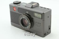 Top Mint in Box Leica minilux Zoom Black BOGNER Leather Case set from Japan