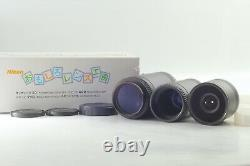 Top Mint in Box Nikon Amusing Lens Set Fun Fun Lens 20mm 120mm 400mm JAPAN