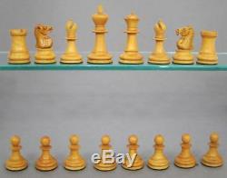Top Quality Vintage Staunton Boxwood Chess Set + Box 1900