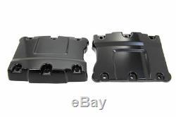 Top Rocker Box Black Cover Set fits Harley Davidson motorcycles v-twin 11-1071