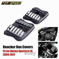 Top Rocker Box Cover Set For Harley Sportster Seventy Two Custom XL 1200 883 04+