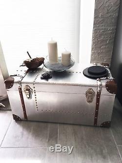 Top Vintage Set 3 Stk. Neu Reisekoffer Retro Box Alu Aluminium Nieten Kofferset