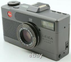 Uncommon Top Mint in Box Leica minilux Zoom Black Camera BOGNER Set Case Japan