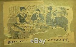 Vintage Antique Table Top Croquet Set In Original Box