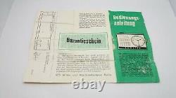 Vintage Miniature Alarm Clock RUHLA SUMATIC full set Leather Box Top condition