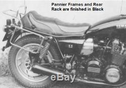 Yamaha XS1100S (1981-82) Pannier Frames & Top Box Carrier Set Black BY H&B