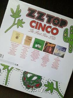 ZZ Top Cinco The First Five LP's HQ 180 Gram LP Box Set RSD Sealed HTF
