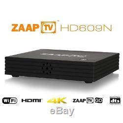 Zaap TV HD609N Arabic IPTV Set Top Box 3 Years Sub with Zaap TV Go New Fast P+P