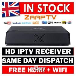 Zaap Tv X Hd Arabic Iptv Set Top Box Zaaptv Greek Arabic + Wifi (2 Year Sub)