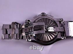 Cadran Noir Breitling Airwolf Superquartz Ensemble Complet A78363 Box / Papiere Top