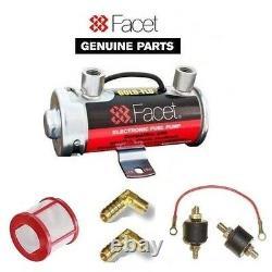 Facettes Argent Top Pompe Fuel Coffret + 8 MM Syndicats + Filtre + Terre Kit De Montage
